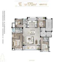 170方E户型4房2厅